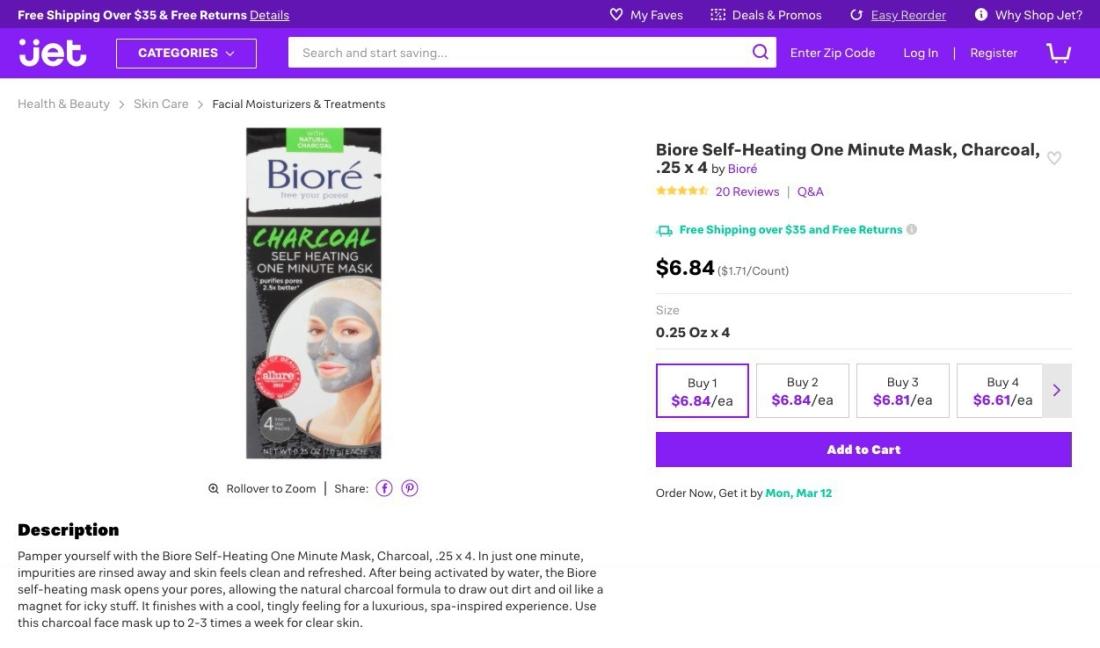 Biore Self-Heating One Minute Mask, C_ - https___jet.com_product_Biore-Self