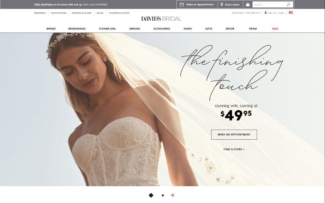 Sale Homepage Veils Desktop